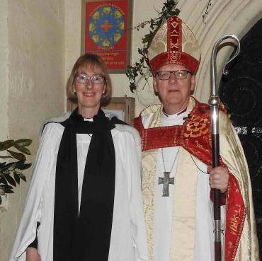 Reverend Joy Cousans and Bishop of St Albans