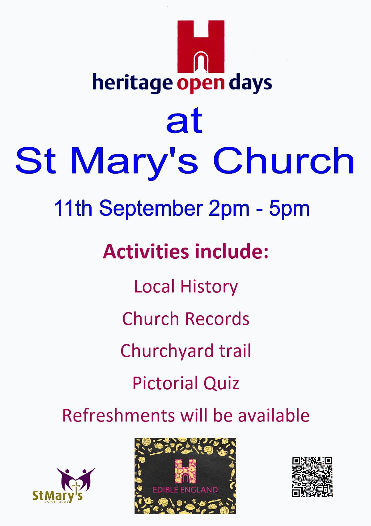 Heritage Open Day - 11 September 2021 - 2pm to 5pm