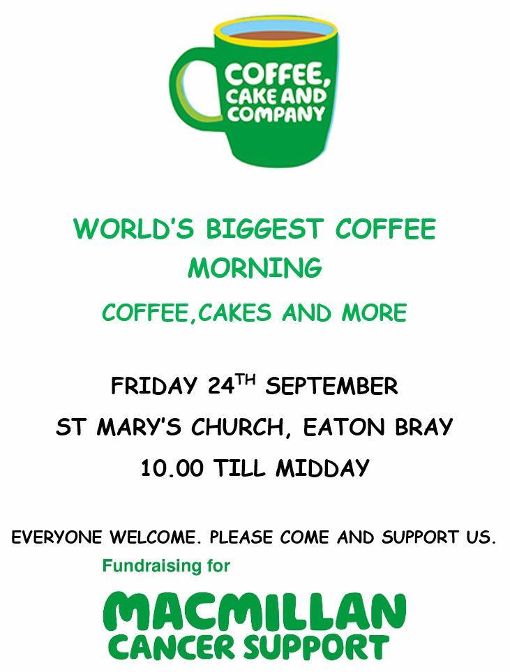 World's Biggest Coffee Morning 2021