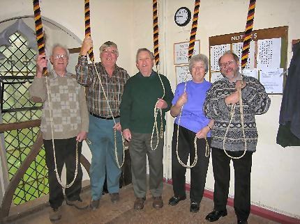 Bell Ringers at St Marys Eaton Bray