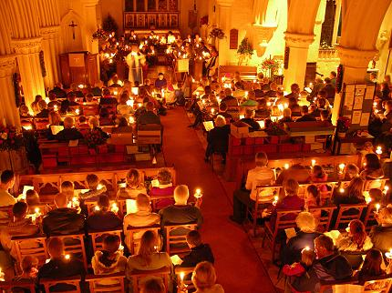 Candle Service 2004 at St Marys Eaton Bray