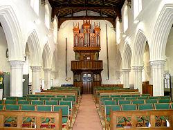 Looking back towards the Organ in St Marys, Eaton Bray
